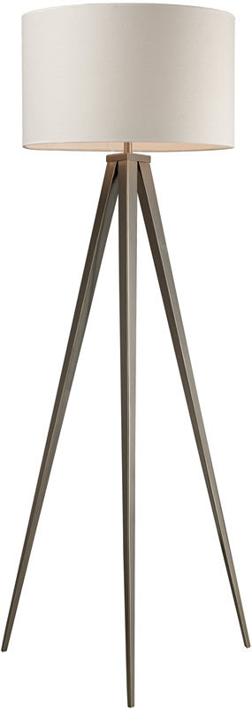 "61""H Salford  3-Way 1-Light Tripod Floor Lamp Satin Nickel"