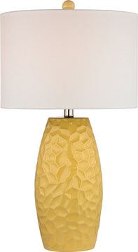"27""H Selsey 1-Light 3-Way Table Lamp Sunshine Yellow"