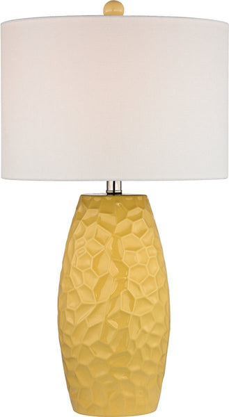 Dimond Selsey 1 Light 3 Way Table Lamp Sunshine Yellow D2500