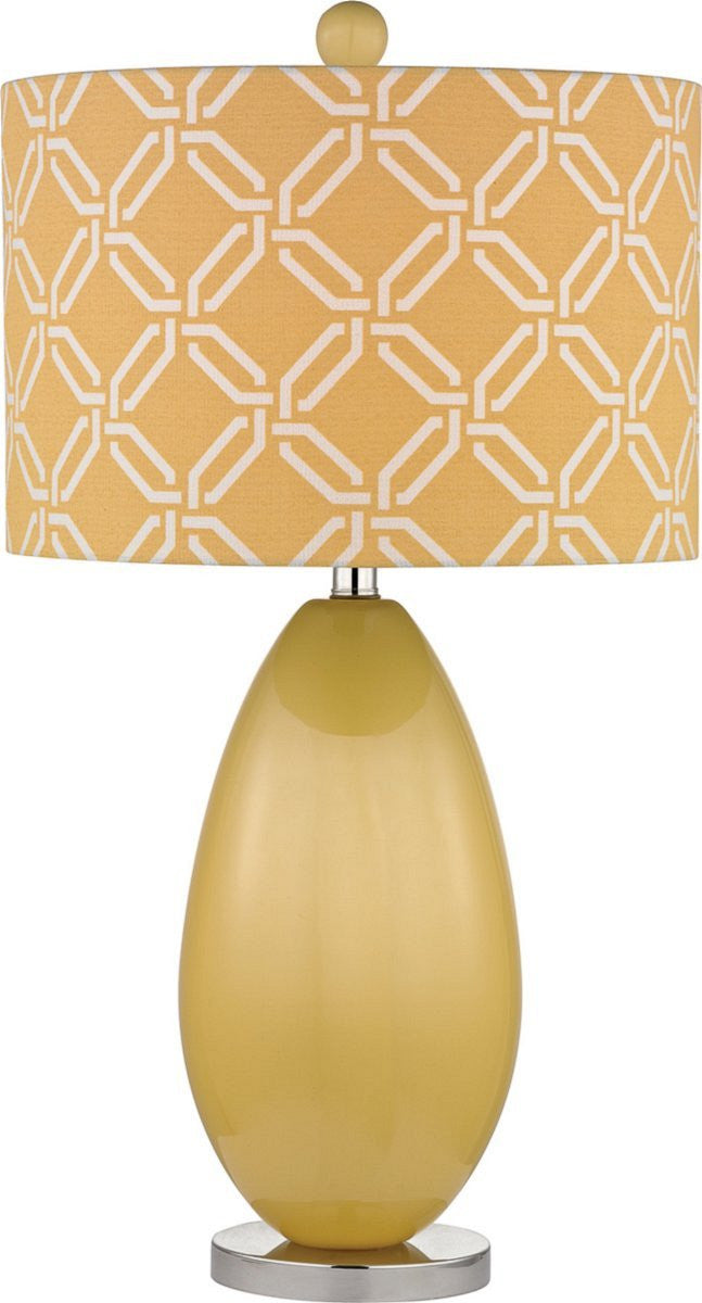 "25""H Sevenoakes 1-Light Table Lamp Sunshine Yellow"