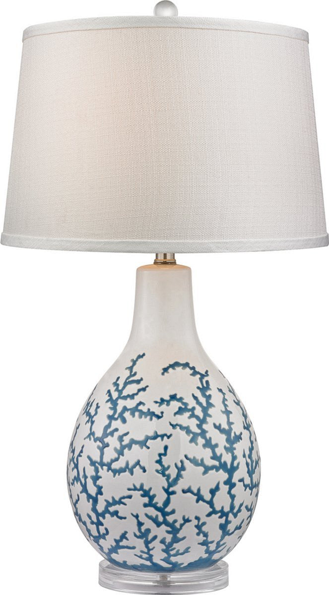 Sixpenny 1-Light 3-Way Table Lamp Pale Blue / White