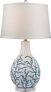 Dimond Sixpenny 1 Light 3 Way Table Lamp Pale Blue White D2478