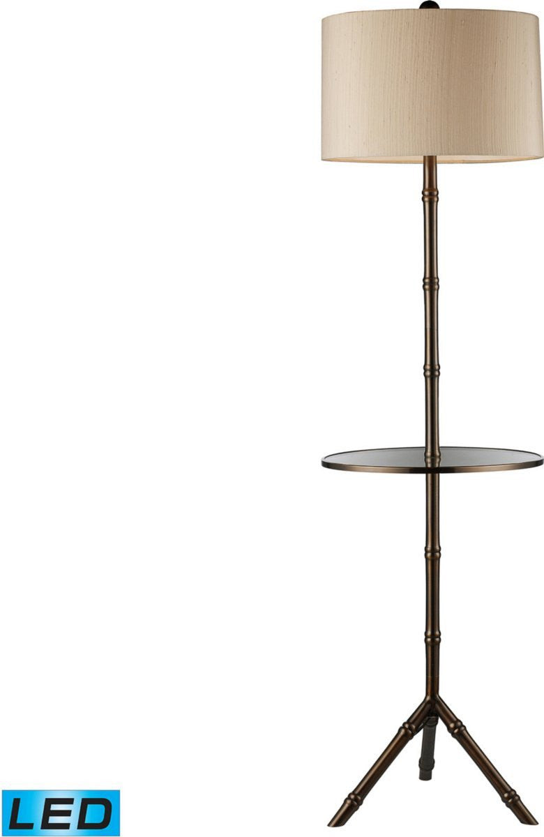 Stanton 1-Light LED 3-Way Tripod Floor Lamp with Shelf Dunbrook