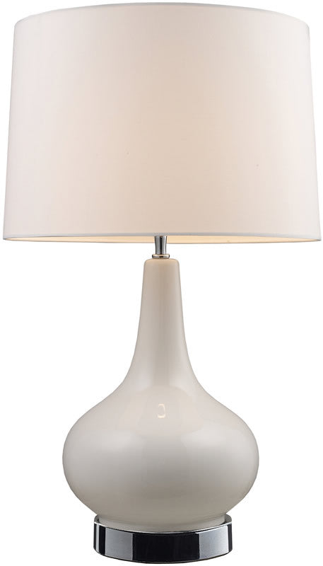 "27""H Continuum 3-Way 1-Light Table Lamp White and Chrome"