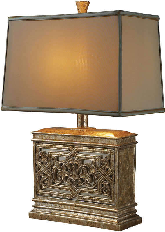 "25""h Laurel Run 1-Light Table Lamp Courtney Gold"