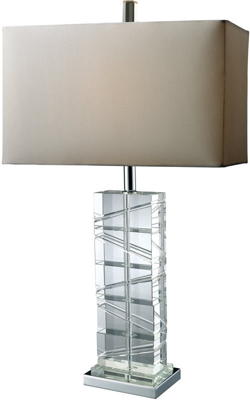 "23""h Avalon 3-Way Table Lamp Chrome and Crystal"