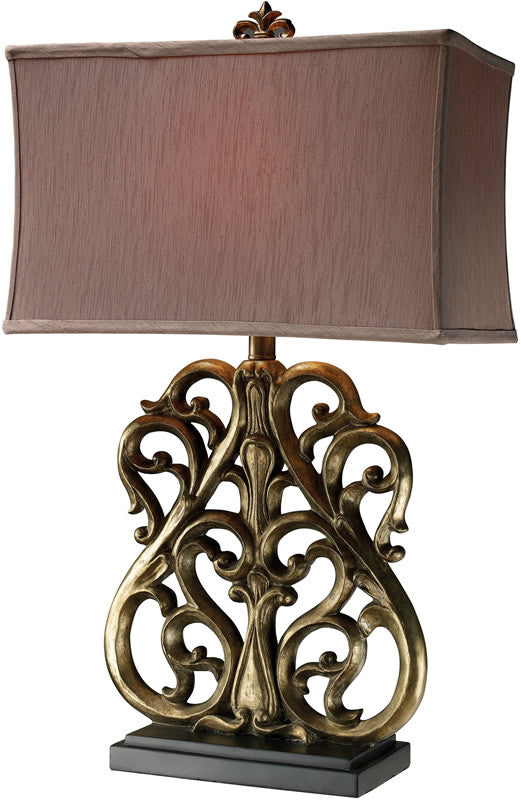 "30""h Roseville 3-Way Table Lamp Oriole Gold"