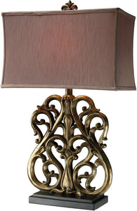 Dimond Roseville 3-Way Table Lamp Oriole Gold D1842