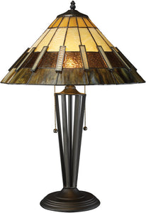 "23""h Porterdale Double Pull Table Lamp Tiffany Bronze"