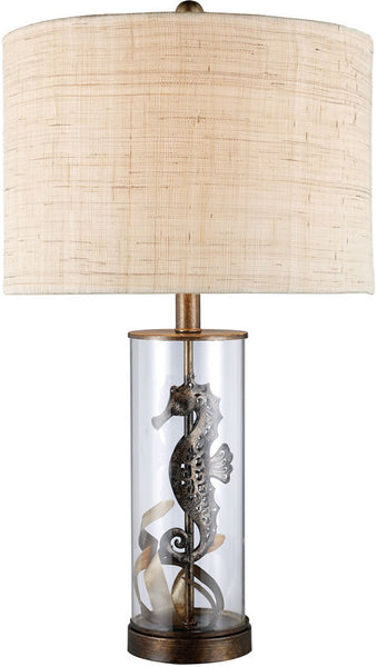 "26""h Largo 3-Way Table Lamp Bronze and Clear Glass"