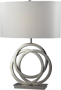 "25""h Trinity 3-Way 1-Light Table Lamp Polished Nickel"