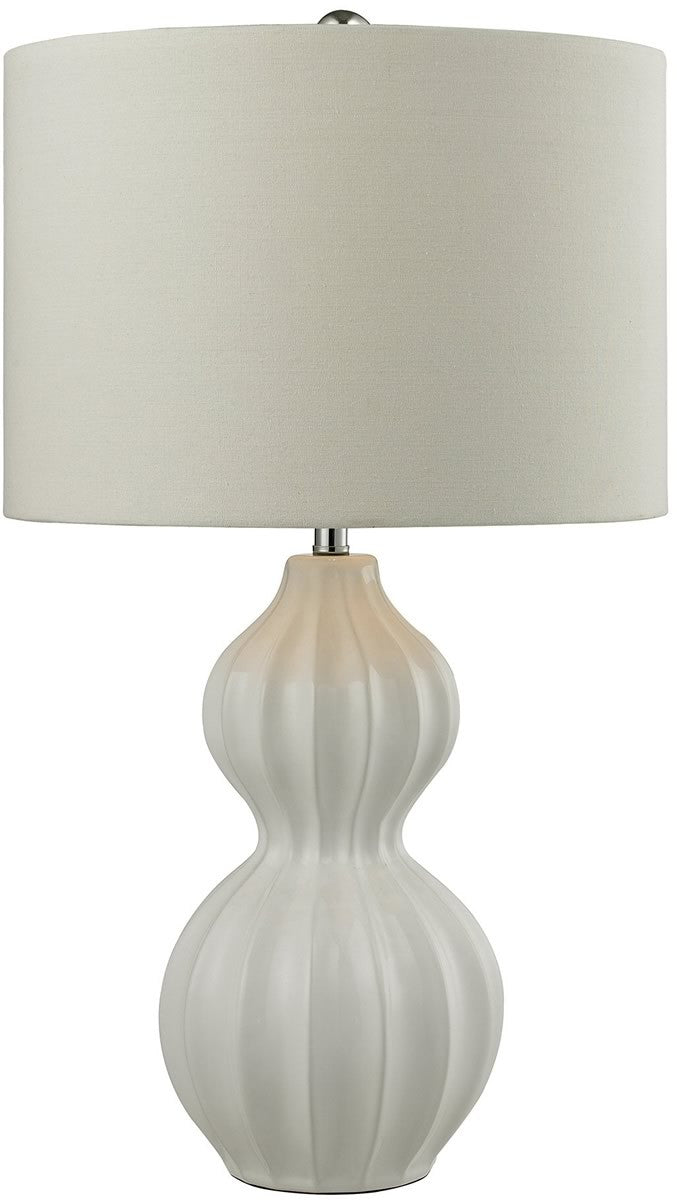 1-Light 3-Way LED Table Lamp Gloss White