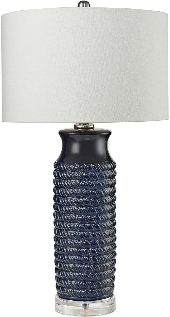 0-017601>1-Light 3-Way Table Lamp Navy Blue
