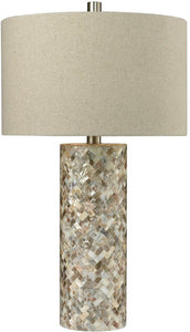 1-Light 3-Way Table Lamp Natural Mother of Pearl Shell