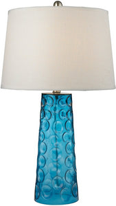 1-Light 3-Way Table Lamp Blue
