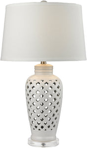 1-Light 3-Way Table Lamp White