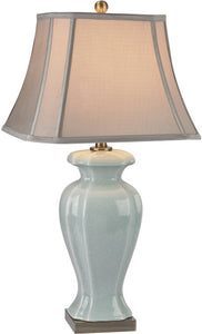 1-Light 3-Way Table Lamp Celadon Antique Brass