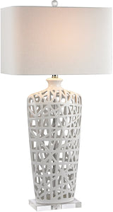 1-Light 3-Way Table Lamp Gloss White