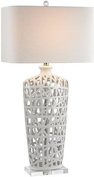 "36""H 1-Light 3-Way LED Table Lamp Gloss White"