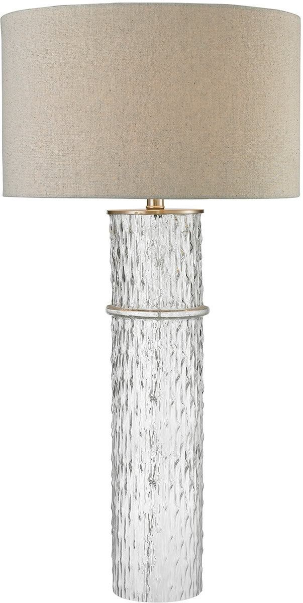 1-Light 3-Way Crystal Table Lamp Clear