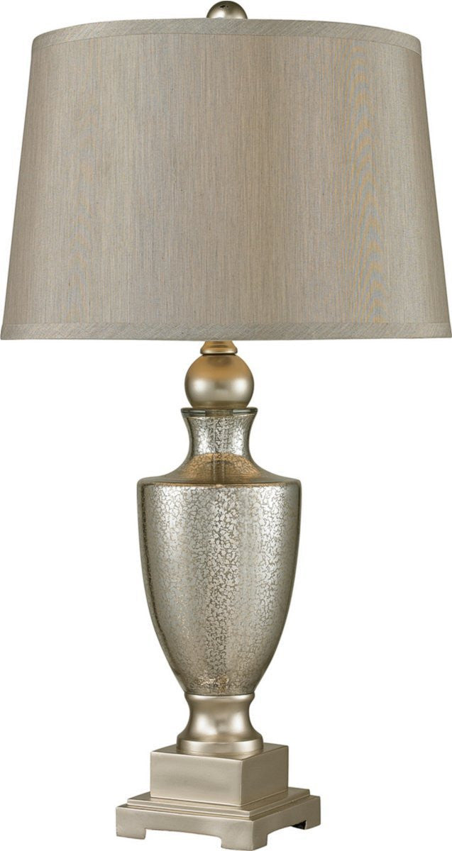 "29""H 1-Light Table Lamp Antique Mercury Glass / Silver"