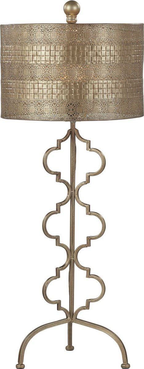 1-Light Table Lamp Gold Leaf