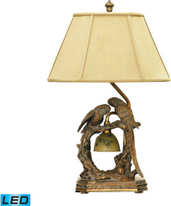 Dimond Twin Parrots 1 Light Led Table Lamp Atlanta Bronze 91507Led