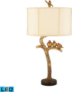 Dimond Three Bird 1 Light Led Table Lamp Gold Leaf Black 93052Led