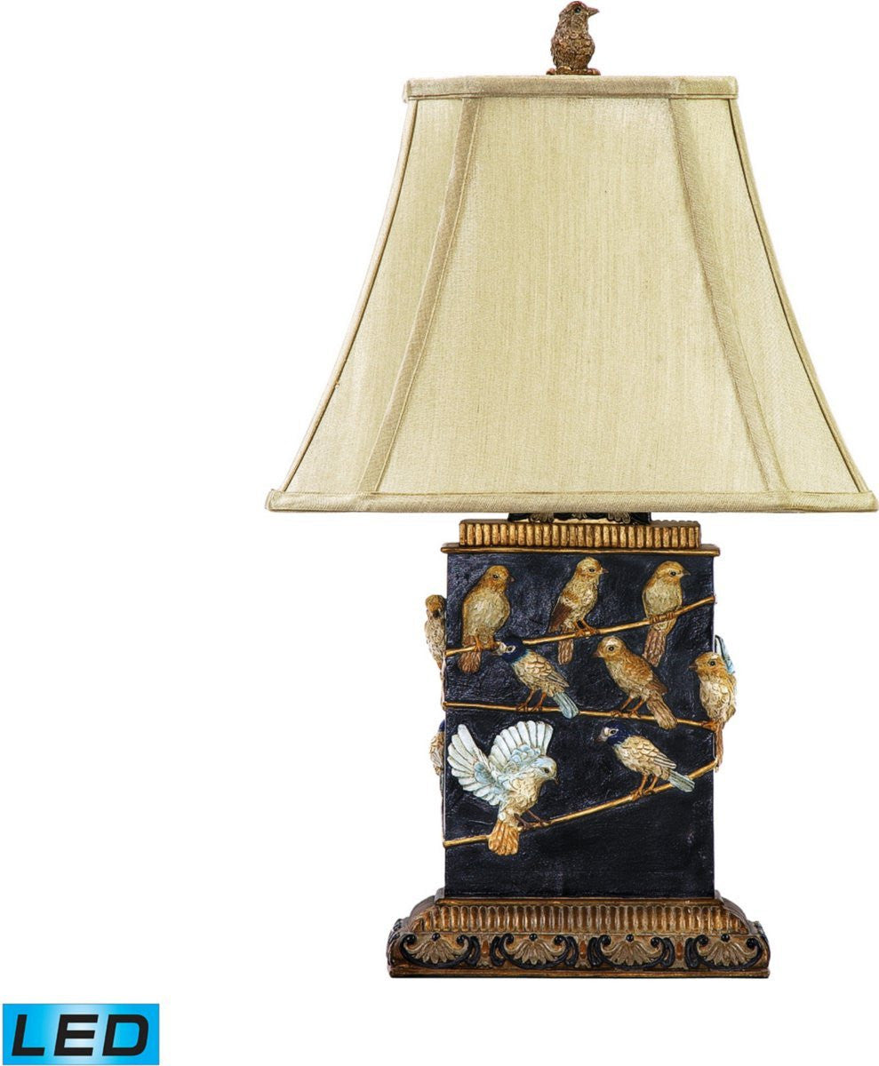 "20""H Birds On A Branch 1-Light LED Table Lamp"