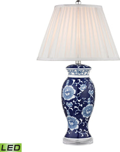 Dimond 1 Light Led 3 Way Table Lamp Blue And White Hand Paint D2474Led