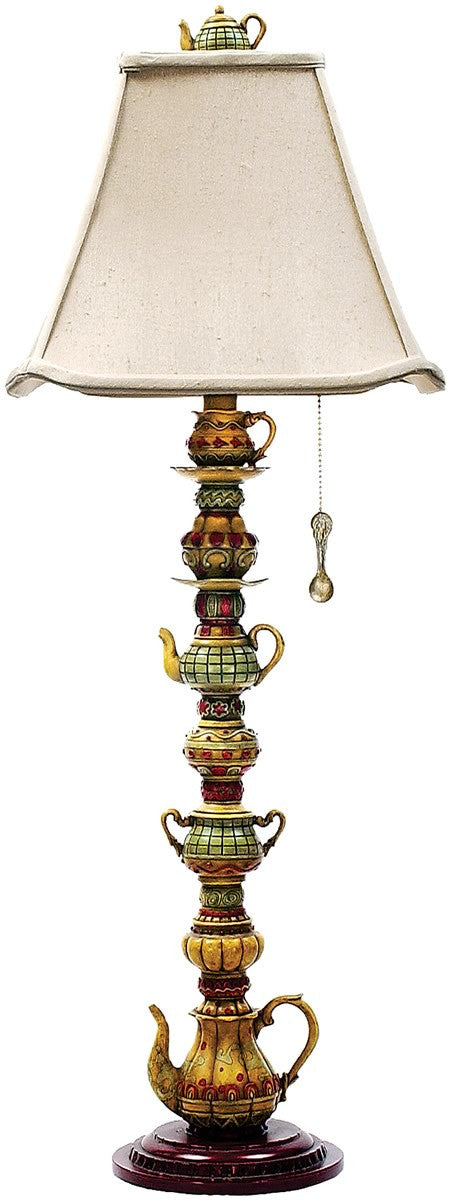 "35""h Tea Service Candlestick 1-Light Table Lamp Burwell"