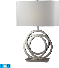 Trinity 1-Light LED 3-Way Table Lamp Polished Nickel