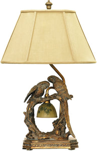 Dimond Twin Parrots 1-Light Table Lamp Atlanta Bronze 91507