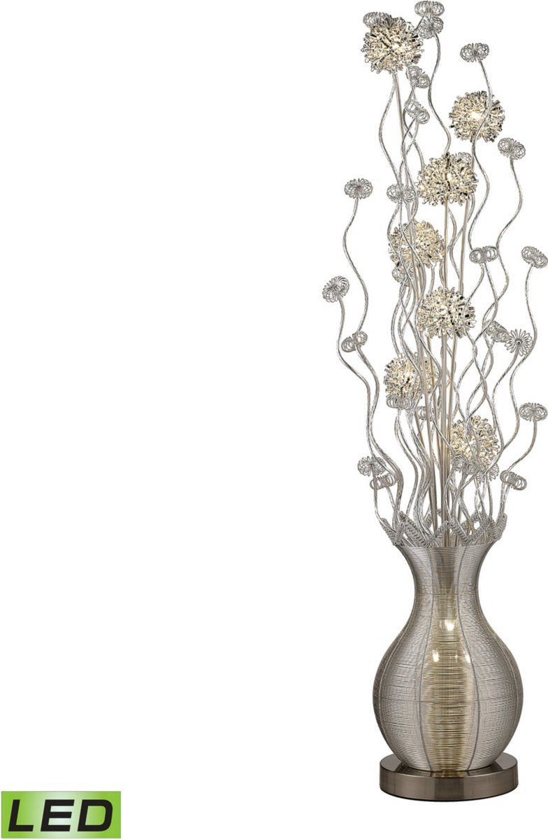 Uniontown 10-Light LED Floor Lamp Silver