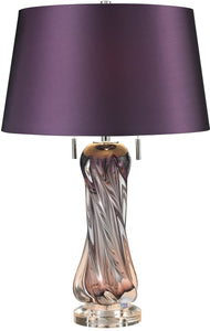 Dimond Vergato 2-Light LED Table Lamp Purple D2663-LED