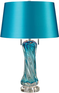 Vergato 2-Light LED Table Lamp Blue