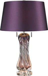 Dimond Vergato 2 Light Table Lamp Purple D2663