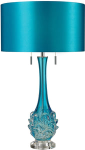 Vignola 2-Light LED Table Lamp Blue