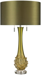 Vignola 2-Light LED Table Lamp Green