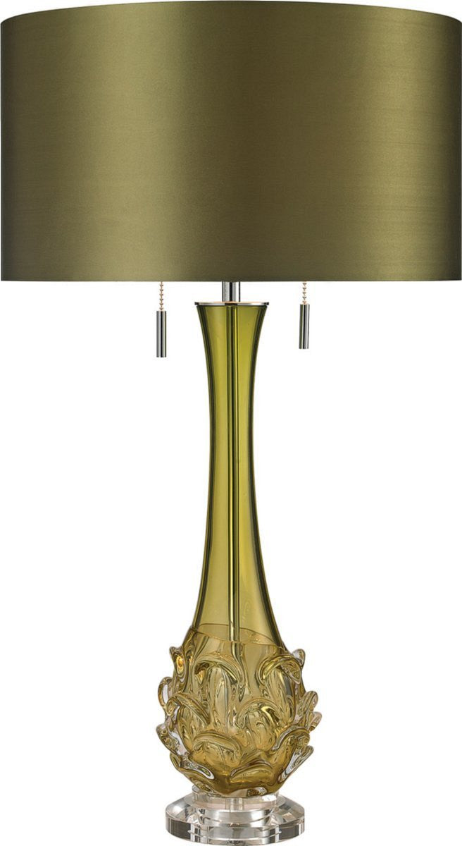Vignola 2-Light Table Lamp Green