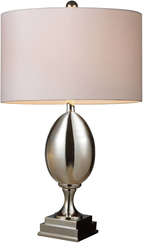 "28""h Waverly 1-Light Table Lamp Chrome Plated Glass"