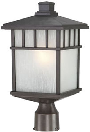 "17""H Barton Outdoor Post Light Olde World Iron"