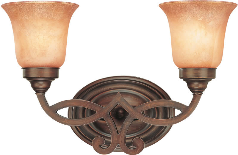 "15""w Bonita 2-Light Bath English Bronze"