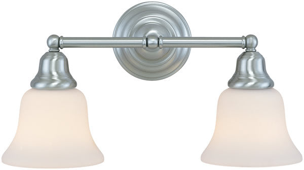 "17""w Brockport 2-Light Vanity Strip Satin Nickel"