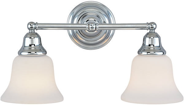 "17""w Brockport 2-Light Vanity Strip Chrome"