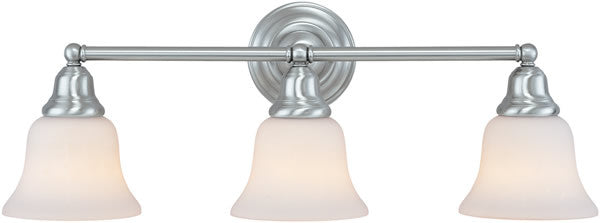 "25""w Brockport 3-Light Vanity Strip Satin Nickel"