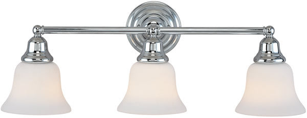"25""w Brockport 3-Light Vanity Strip Chrome"