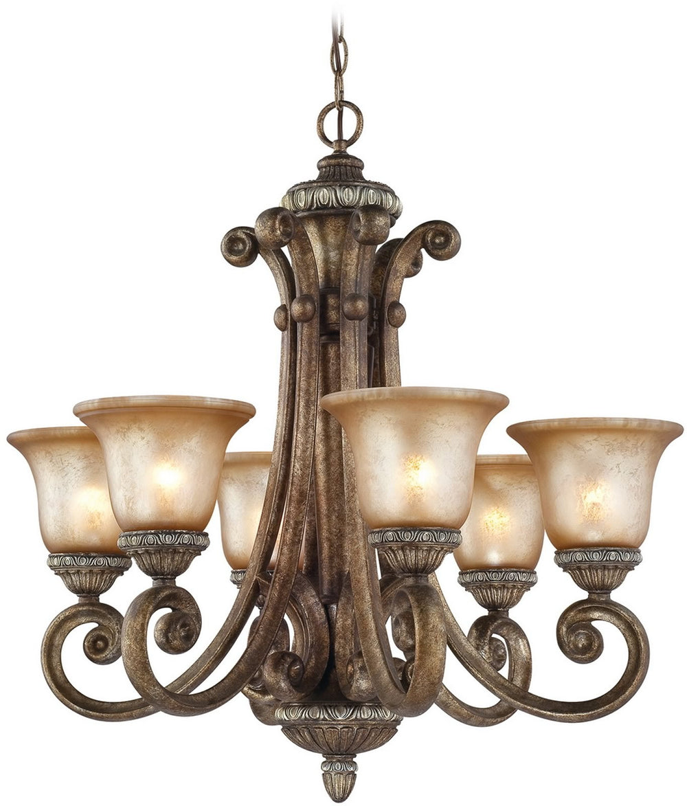 "28""w Carlyle 6-Light Chandelier Verona"