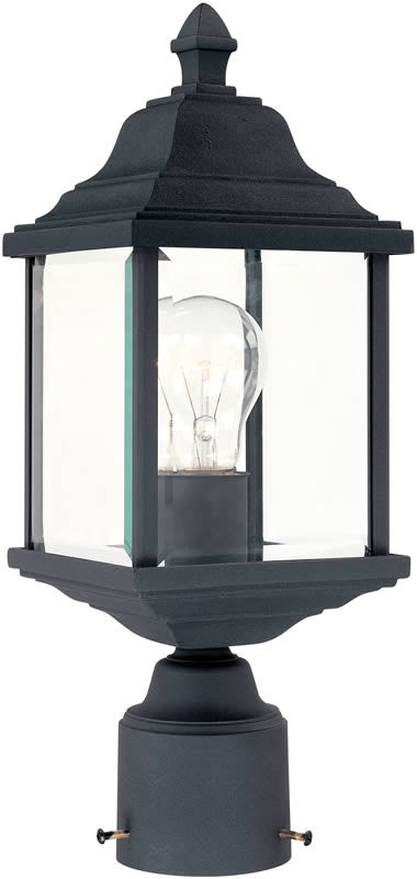 "16""H Charleston 1-Light Post Black"
