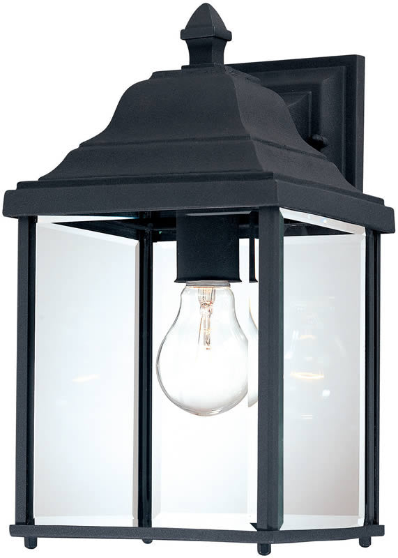 "13""h Charleston 1-Light Wall Black"